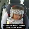 Support de tête pour bébé en voiture