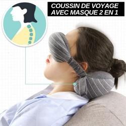Coussin de voyage 2 en 1 avec masque